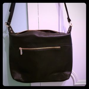 A New Day Black Synthetic Leather Crossbody Bag